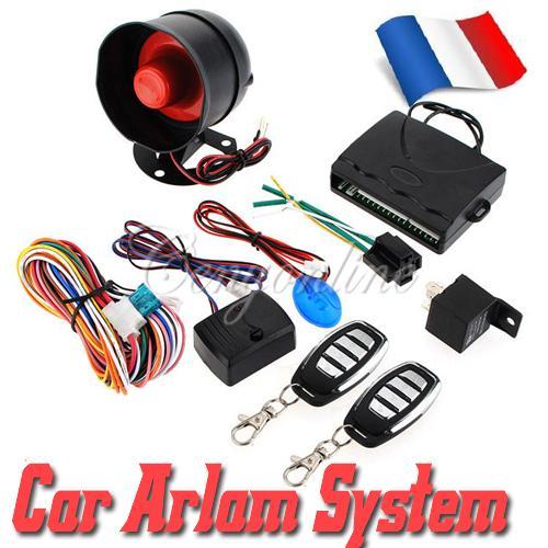 NEW Universal HA-100A 1-Way Car Alarm Vehicle System Protec tion Security System Keyless Entry Siren + 2 Remote Control Burglar(China (Mainland))