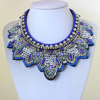 fashion jewelry for women 2014 tattoo choker collar chunky leaf handmade colares femininos  statement Necklaces LM-SC1046