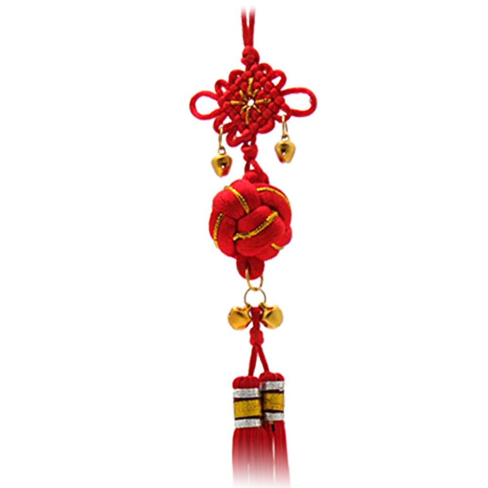 Saf atacado Oriental bola ChInese nó borla ornamento com sinos(China (Mainland))