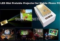 Pocket/mini LED Projector Mini Protable Projector,Mini proyector del hogar, for iPhone iPad Mobile Phone PC