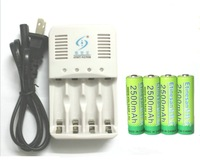 FACTORY DIRECT SALES! 4Pcs Etinesan 1.6v aa 2500mAh nizn Ni-Zn rechargeable battery batteries + Charger High voltage,more power