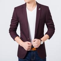 Mens slim fit blazer high quality luxury suit jacket new korean fashion European blue blazer Male casual jacket single breasted