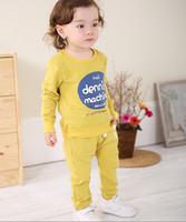 2014 New Fashion Baby Clothing Baby Sweatshirts Sport Suit Set Long Sleeve Children Hoodies+Pants Kids 2pcs Clothes set DA616