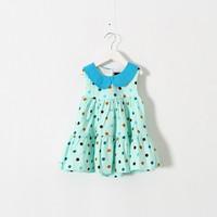 New 2015 summer girls Boutique dots dress baby girls party dress 5pcs/lot