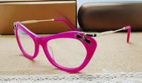 brand optical cat eye designer prescription eyeglasses women diamond luxury myopia  full rim frame eyewear spectacle frame  09M