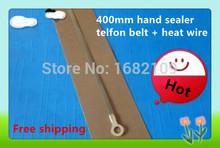 400mm impulse sealer spare parts hand sealer teflon belt + heat wire,Heating wire heater element for 400mm hand  sealer(China (Mainland))