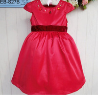 Wholesale High Quality Baby Dress New Fashion Short Sleeve Diamond Flower Girl Dress Summer Children Formal Princess Dress