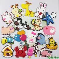 Creative kindergarten early refrigerator magnets toy Blackboard cartoon animal stickers