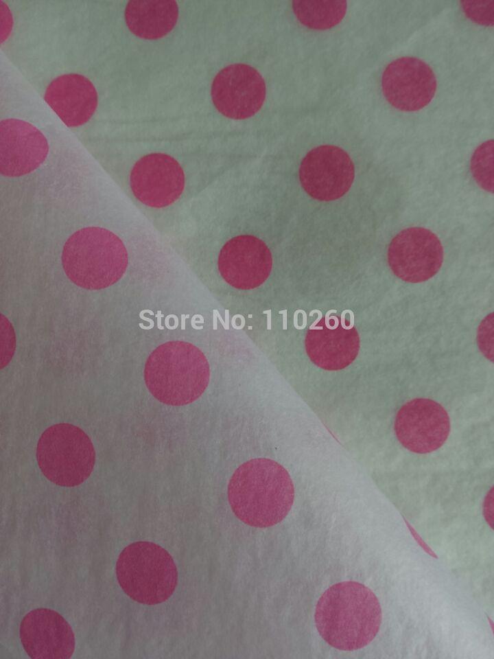 Hot Pink Polka Dots Gift Wrap Tissue, 50x40 cm, 500pcs/lot(China (Mainland))