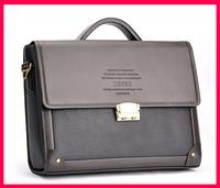 2015 Seconds Kill New Silt Pocket Free Shipping Composite Leather Zefer Male Business Bag Briefcase Man Shoulder Lock Laptop