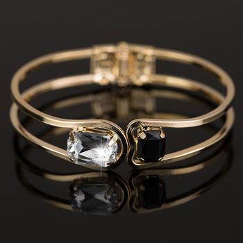 Женщины браслет 18 К золото элегантный ювелирные изделия мода Bud кристалл браслеты ...