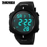 relogio SKMEI Brand digital Sports Watches 50M Waterproof Multifunction Climbing Dive LCD Digital Watches men's Wristwatch 2015