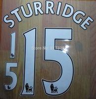 free shipping FA Premier League WHITE STURRIDGE #15 nameset name numbering