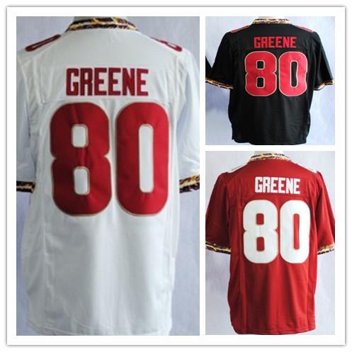 top Quality NCAA Football Jerseys Wholesale Florida State Seminoles #80 Rashad Greene 2013 White Jersey free shipping(China (Mainland))
