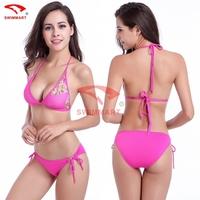 2015 Hot sale Fashion Designer Strappy Bandage Stretch Mesh Tansparent Sexy Bikini