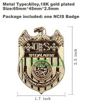 Golden NCIS party cosplay Brooches broach Police Sheriff Deputy Badge girls children kids boys fun 2015