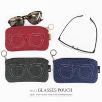 Indigo tapirs zipper brief glasses bag glasses bag belt key ring