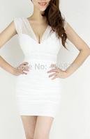 2014 new nightclub sexy sequined mesh halter dress Slim package hip European and American temperament sent free