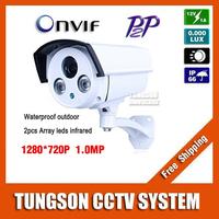 1280*720P Security Surveillance 1.0MP Array Bullet Network CCTV IP Camera ONVIF Waterproof Outdoor IR CUT Night Vision P2P