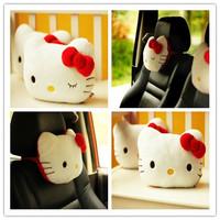 Plush doll 1pc 25cm creative little soft cartoon hello kitty bowknot neck pillow car decoration stuffed toy gift