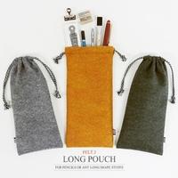 Indigo tapirs cosmetic drawstring brief long stationery storage bag student pencil case