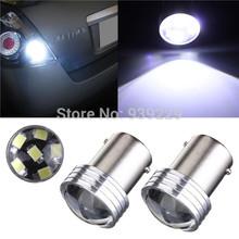 4pcs/lot 1156 BA15S P21W 6 LED 2835 SMD Projector Pure White High Quality Car Auto Light Source Backup Reverse Lamp Bulb DC12V