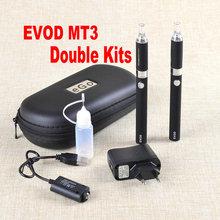 Double ego-T MT3 Electronic Cigarette Kits MT3 ego-T e-cigarette kits 650 900 1100mah MT3 Atomizer ego Battery with Zipper Case