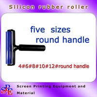silicone rubber roller dedusting roller manual different sizes round handle