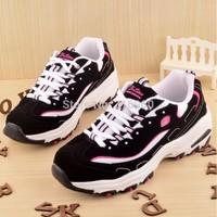 2015 New Women Fashion Sneakers  Platform Women casual shoes Thick Bottom Net Cloth Lace-up Women's sport Shoes