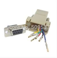 1PCS/lot rs232 DB9 Female to RJ45 Female RS232 Modular Adapter FreeShipping