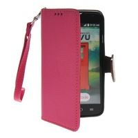 Litch Skin Premium PU Leather Wallet Pouch Flip Bracket TPU Case Cover For LG L70