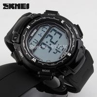 Free shipping 2015 fashion casual Men Personality watch Multifunctional waterproof Digital Electronic Wristwatches Black