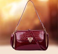 2015 the new tide fashion handbag crocodile grain single shoulder bag lady inclined shoulder bag Free shipping W159