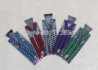 Free Shipping+Wholesale Adult's Adjustable Clip-on Slim 2.5cm width suspenders braces,300pcs/lot