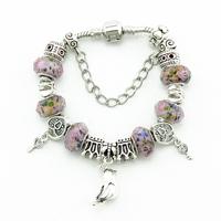 Fashion Vintage Style  Silver Women Bracelets & Bangles Beautiful Glass Bead Bracelets DIY Handmade Accessories