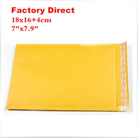 """Free shipping 18cmX16cm+4cm 7.1""""X7.9"""" 100 pieces kraft Bubble Mailers Padded Envelopes air Bags 18cmx20cm courier bags"""