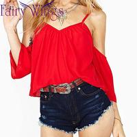 2015 Women Blouses Chiffon Sling Spring Summer Shirt Blusas Femininas Casual Loose V Neck Shirt Tops Sexy PH3022