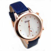 2015 new item DALAS brand women men japan mov't quartz wrist genuine leather watch brushed design face