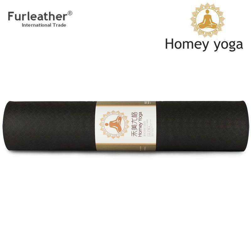 2015 top quality TPE yoga mat 173*61cm eco-friendly 6mm classic fitness mat exercise mat dance mat Lengthen Gymnastics Mat(China (Mainland))