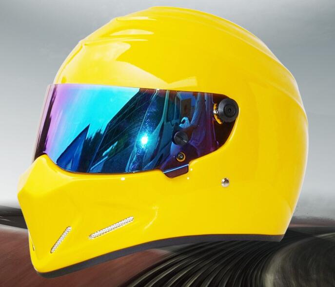 StarWars motorcycle yohe FRP SIMPSON, Star Wars pig helmet ATV - 4 Stig. Yellow(China (Mainland))