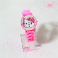 2015 New fashion Hello Kitty watch kids children cartoon silicone sport watches Ladies watch Christmas gifts relogio masculino