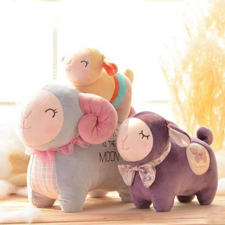 Plush sheep toy stuffed animals toys cute doll high quality birthday gift Hot sale(China (Mainland))