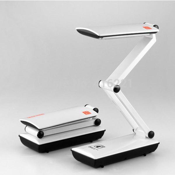 LED Folding Rechargable Reading Desk LED Table Lamp Light Touch Control 360 ROTATING(China (Mainland))