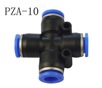 Free shipping 10pcs/lot Pneumatic fittings PZA-10 , 4 Way 10mm ID , pneumatic pipe fitting
