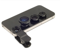3-in-1 Magnetic Fish Eye + Wide Angle + Macro Lens Set for Cellphone, Tablet PC
