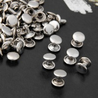 Free Shipping 1000 Pcs 9mm Silver Copper Round Flat Rapid Rivets Studs Punk for Bag Shoes Bracelet #80440