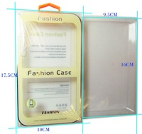 500PCS/Lot Clear Box Plastic PVC Retail Packaging Package  For Mobile Phone Case Free DHL