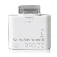 5 in 1 Camera Connection Kit Card Reader USB SD(HC) Micro T-flash TF MS DUO MMC M2 Photo For Apple Iphone 4 4s iPad 1 2 3 Switch
