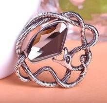 Antique Silver Retro Stylish Vintage Jewelry Snake Brooch Coroa Collar Pin Up Women Wedding Scarf Clips Broche Broach Bijoux