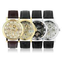 Men Luxury Wrist Watch Hollow Skeleton Mechanical watch Stainless Steel
